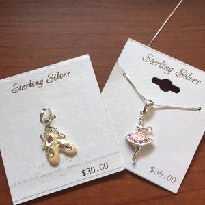 Jewelry - NWT Sterling Silver Ballerina Necklace and charm